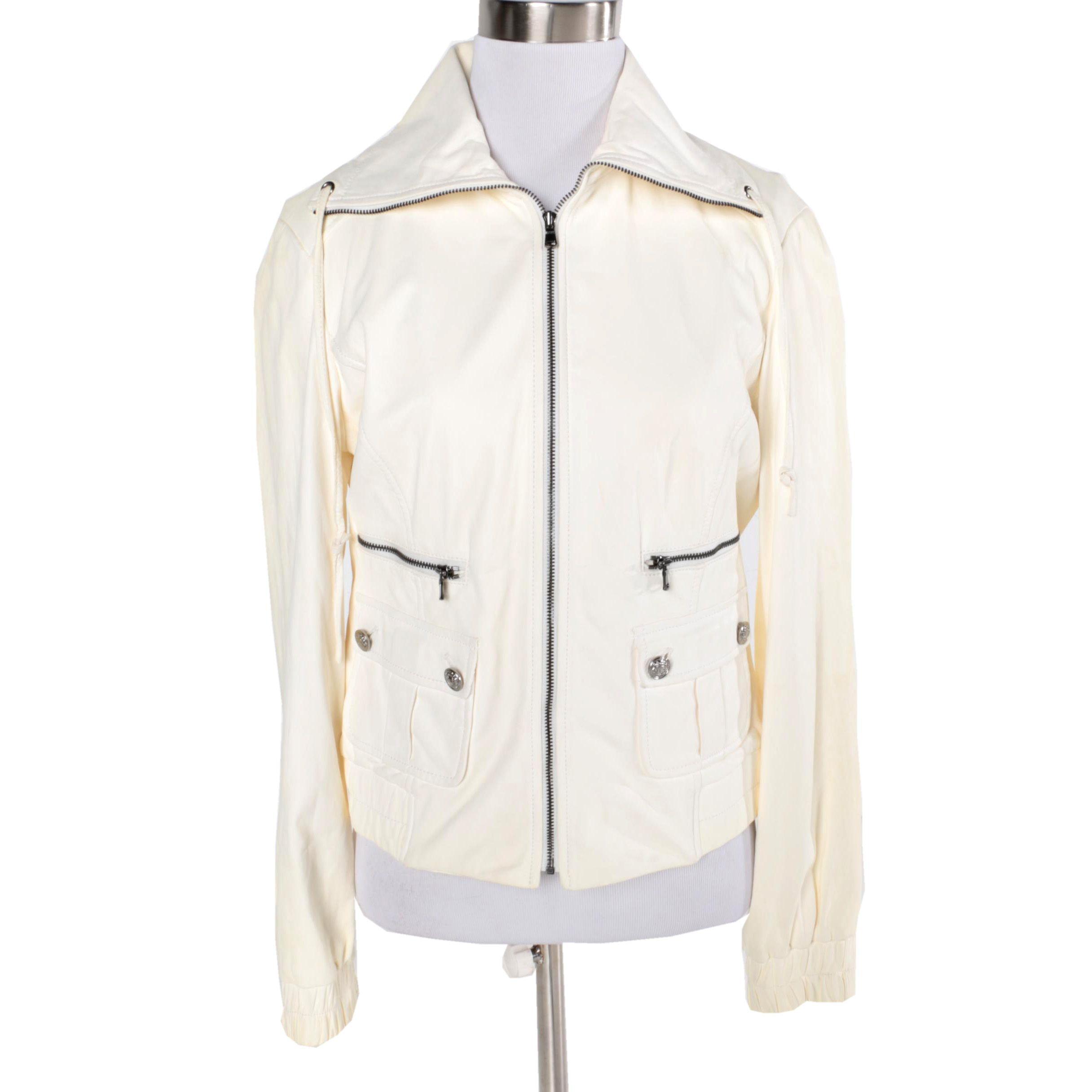 Women's St. John Lambskin Leather Jacket