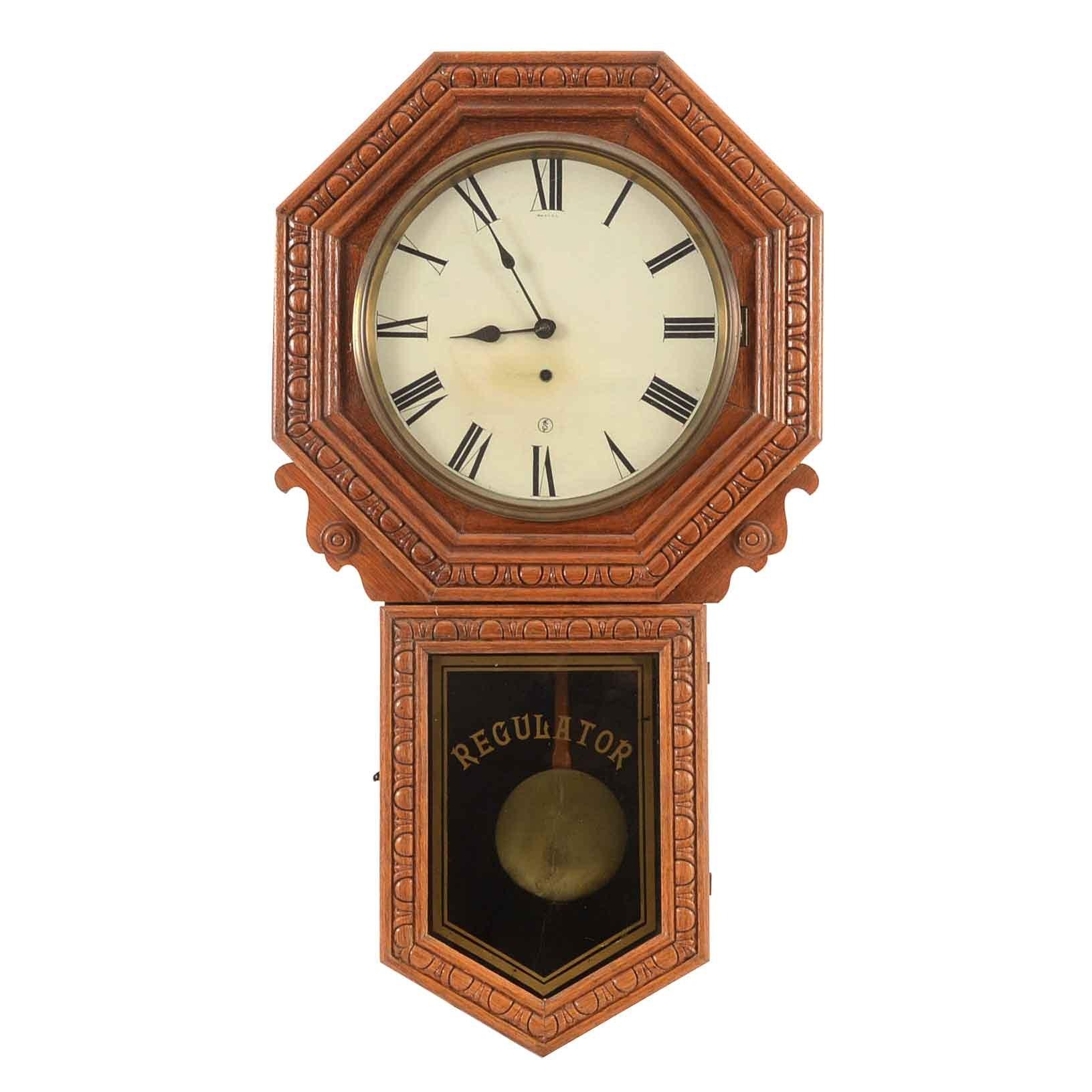 "Vintage ""8 Day Bank Regulator"" Wall Clock"