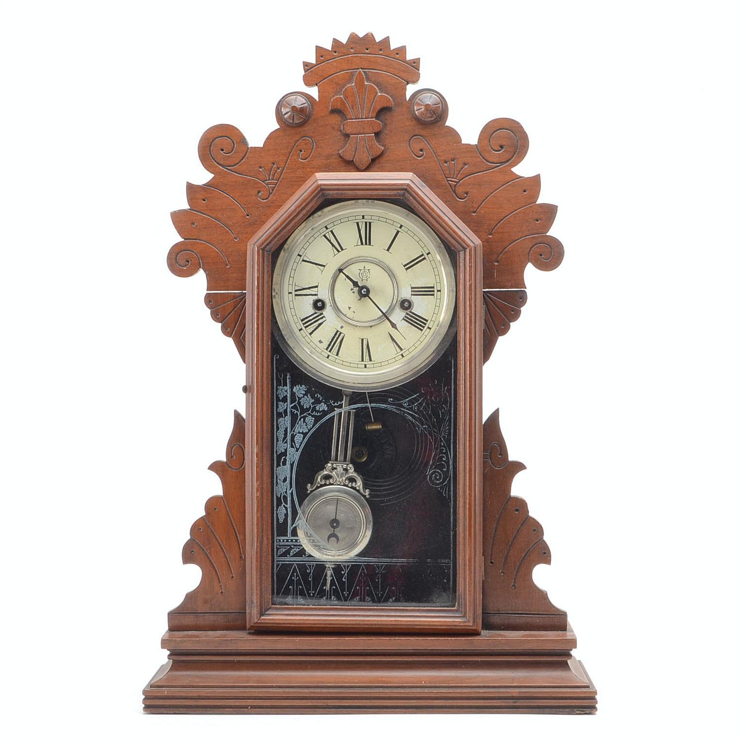 """Antique """"Clyde"""" Waterbury Clock"""