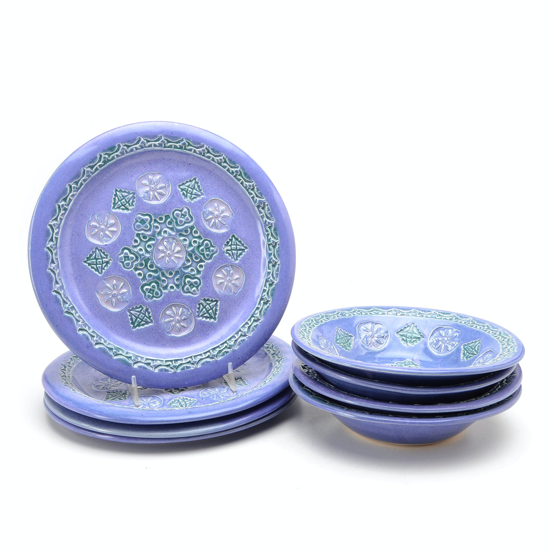 Artisan Signed Ceramic Bowls and Plates