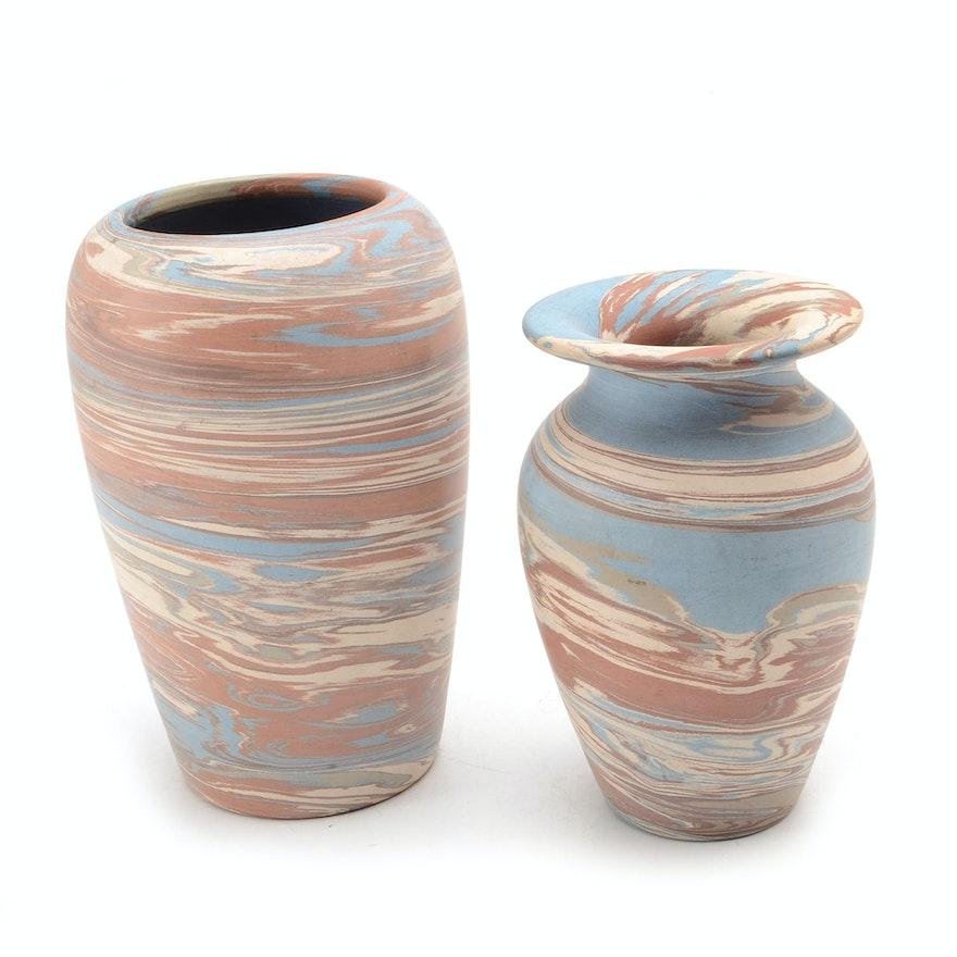 Niloak Pottery Vases Ebth