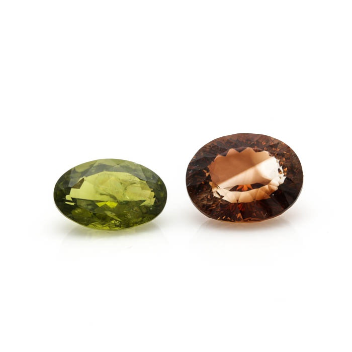 Loose 6.40 CT Peridot and 11.79 CT Topaz Gemstones