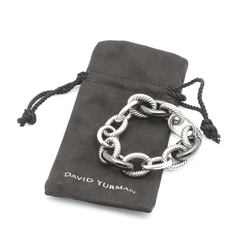 "David Yurman ""Oval Link Collection"" Sterling Silver Bracelet"
