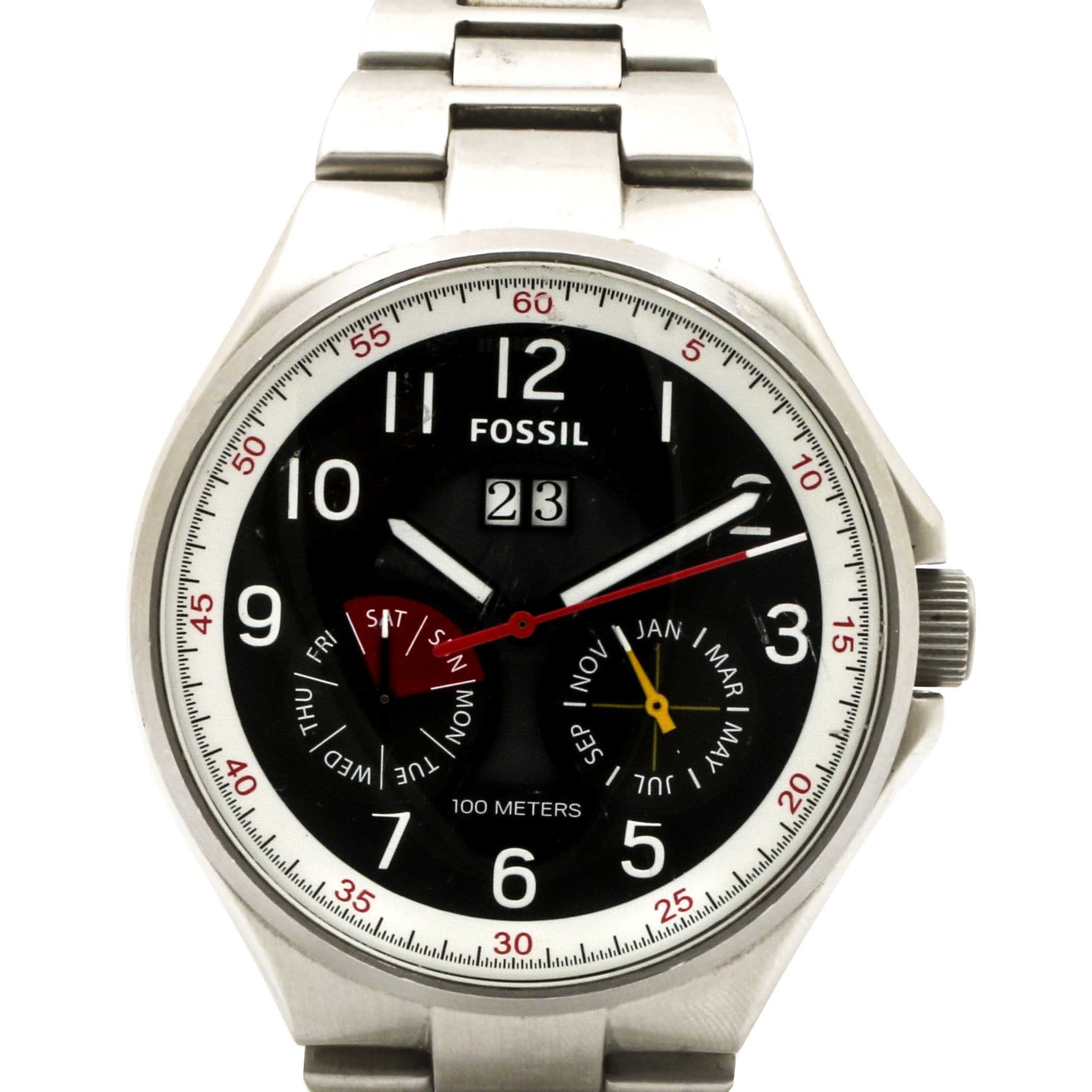 Fossil Stainless Steel Analog Wristwatch