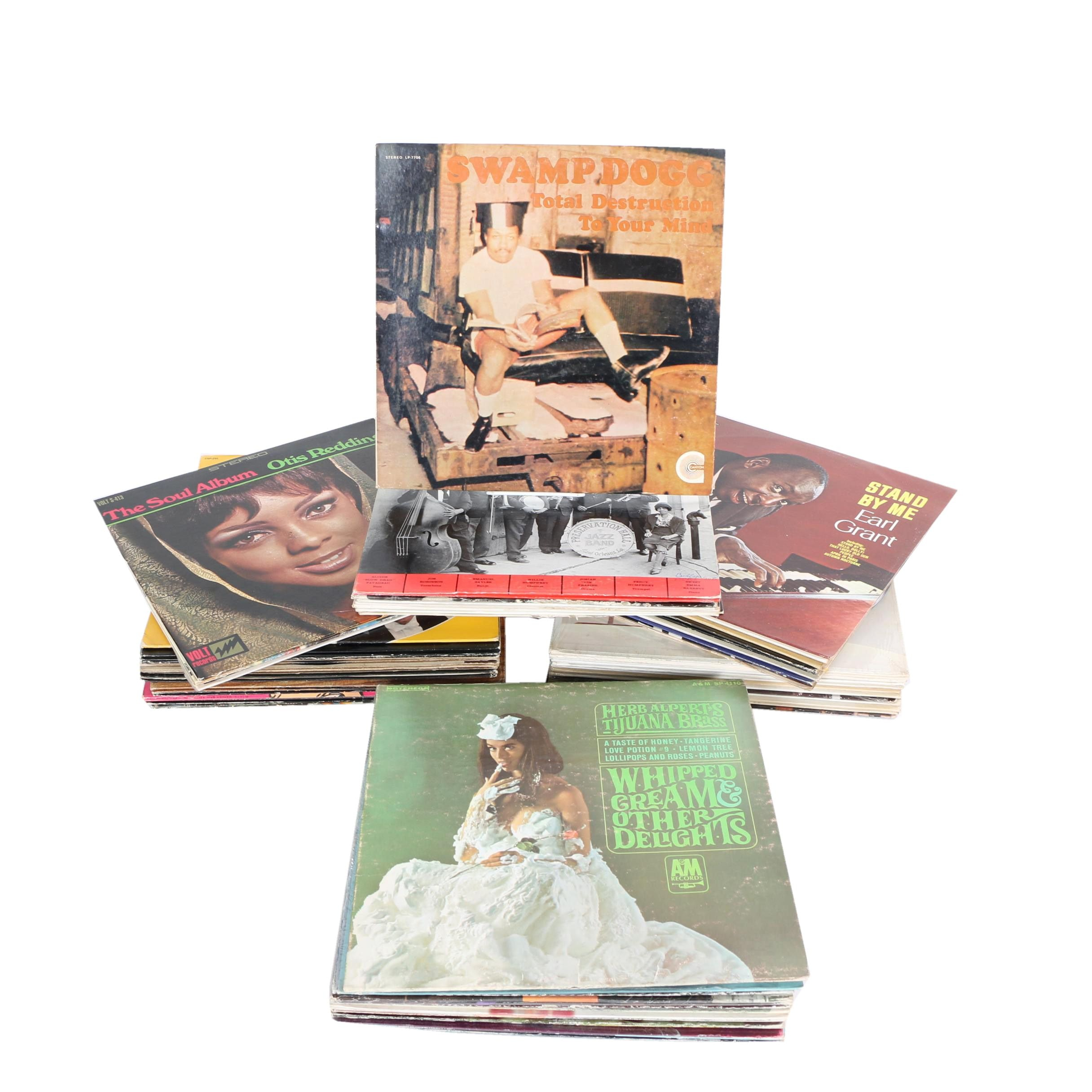 """Lou Rawls, Duke Ellington, Ray Charles and Other 12"""" 33 RPM Records"""