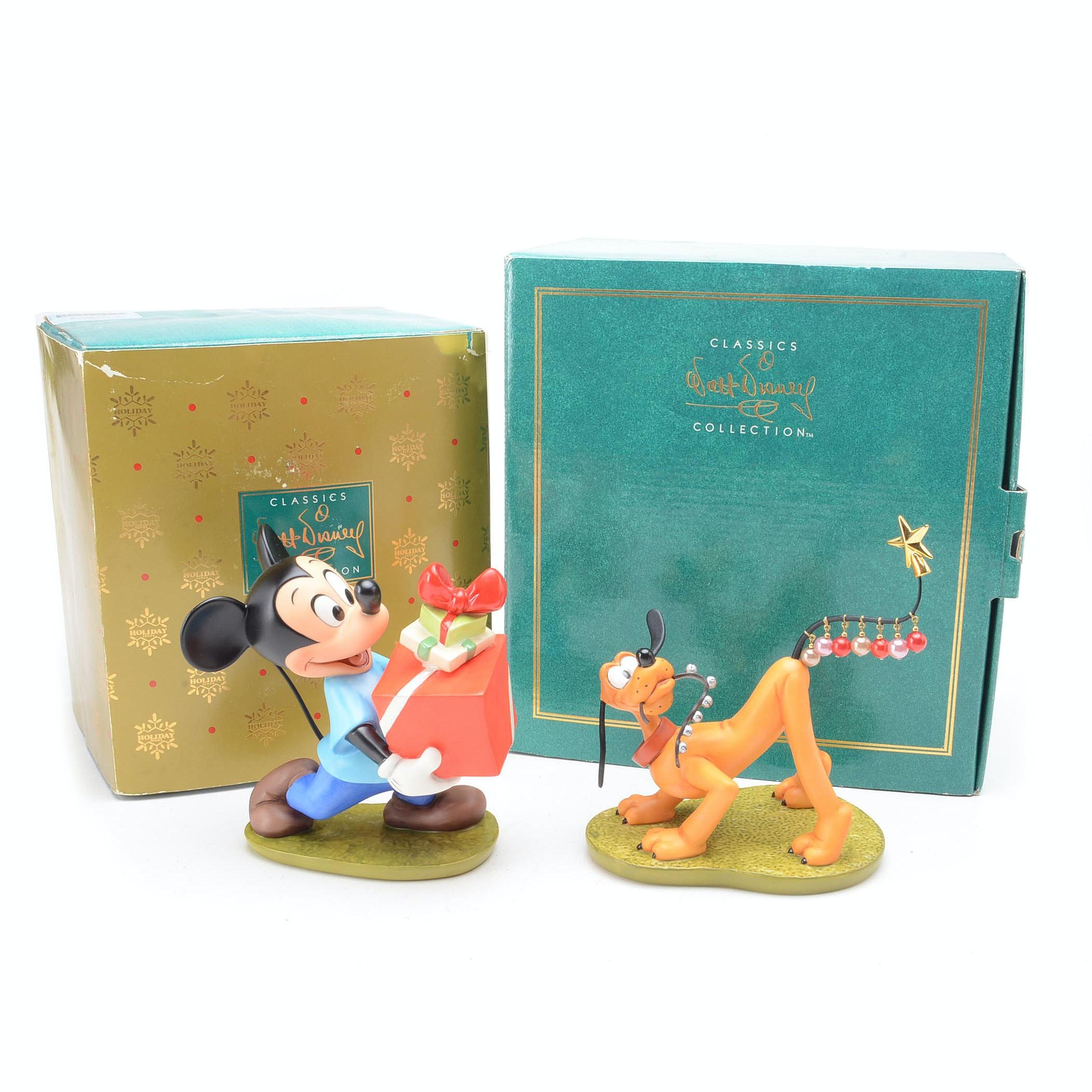 Mickey and Pluto Walt Disney Collection Christmas Figurines
