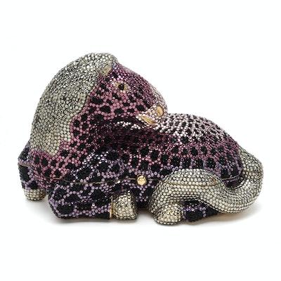 eaaed9e1ea1b Vintage Judith Leiber Swarovski Crystal Reclining Horse Minaudiere Handbag