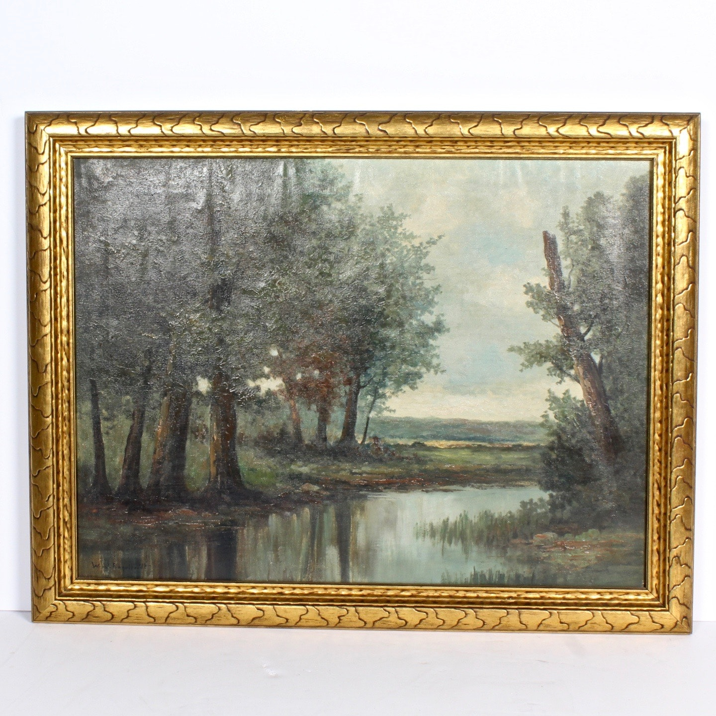 William Engelhardt Oil Painting of a Landscape