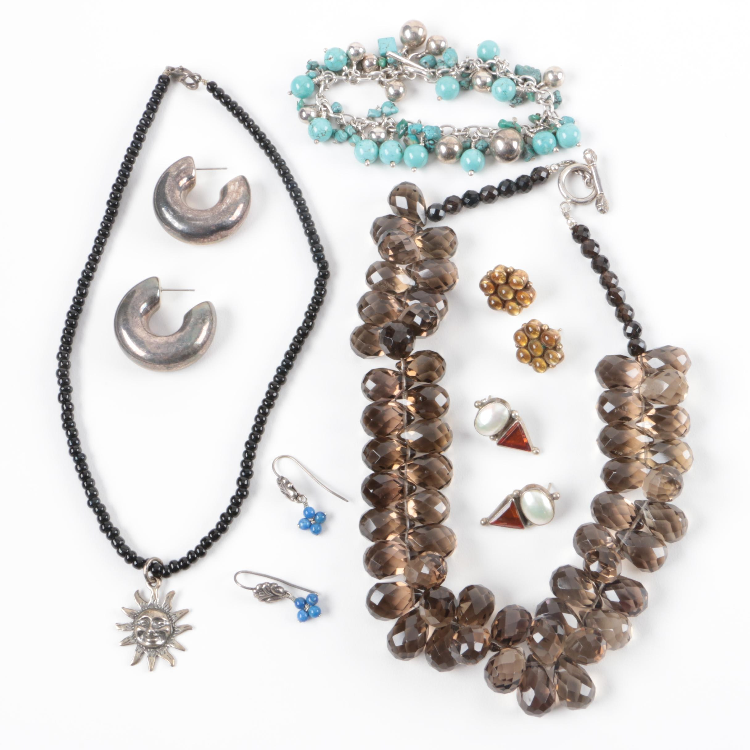 Assorted Costume Jewelry including Necklaces, Bracelets and Earrings