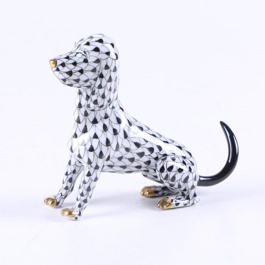 herend dog figurine
