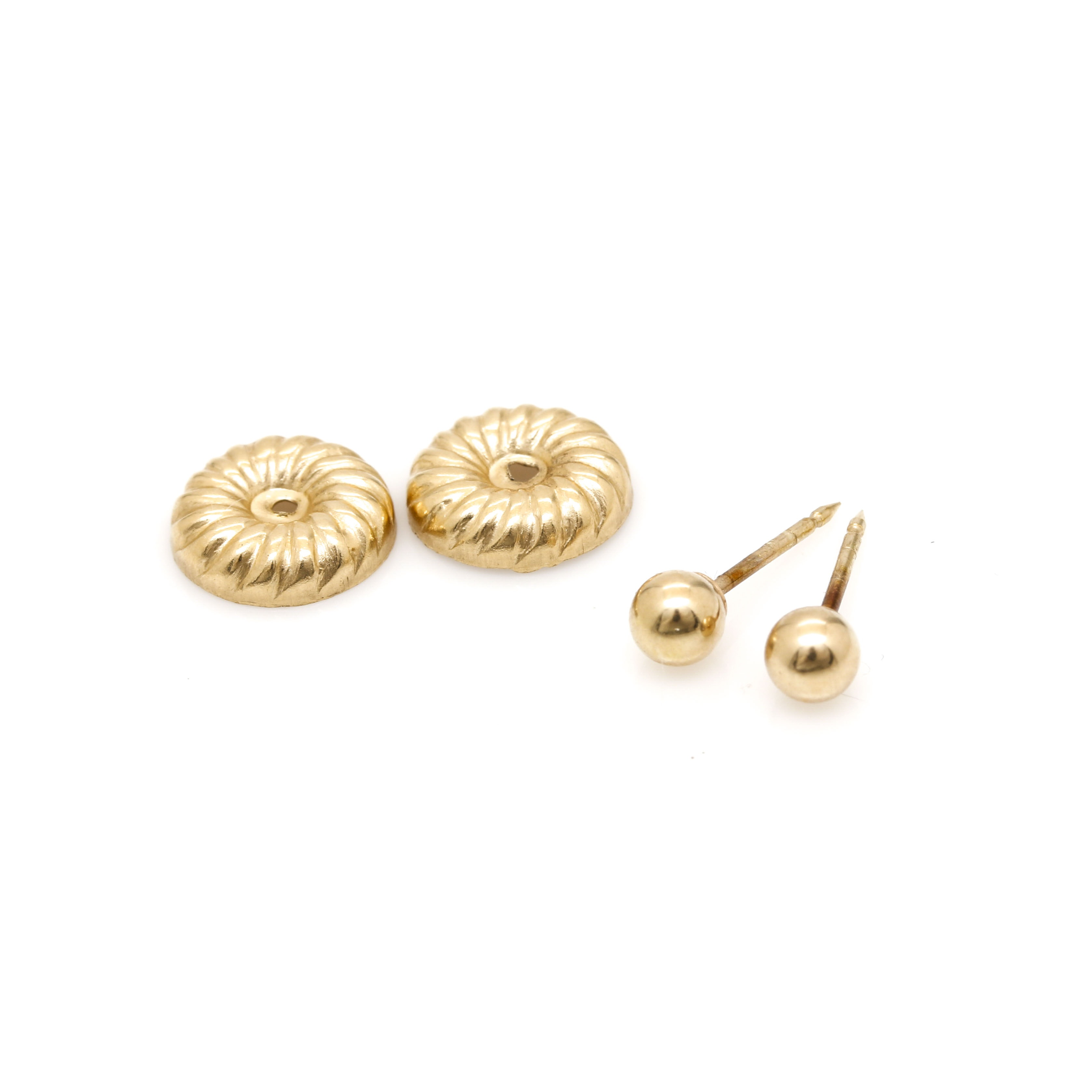 14K Yellow Gold Earrings and Earring Jackets