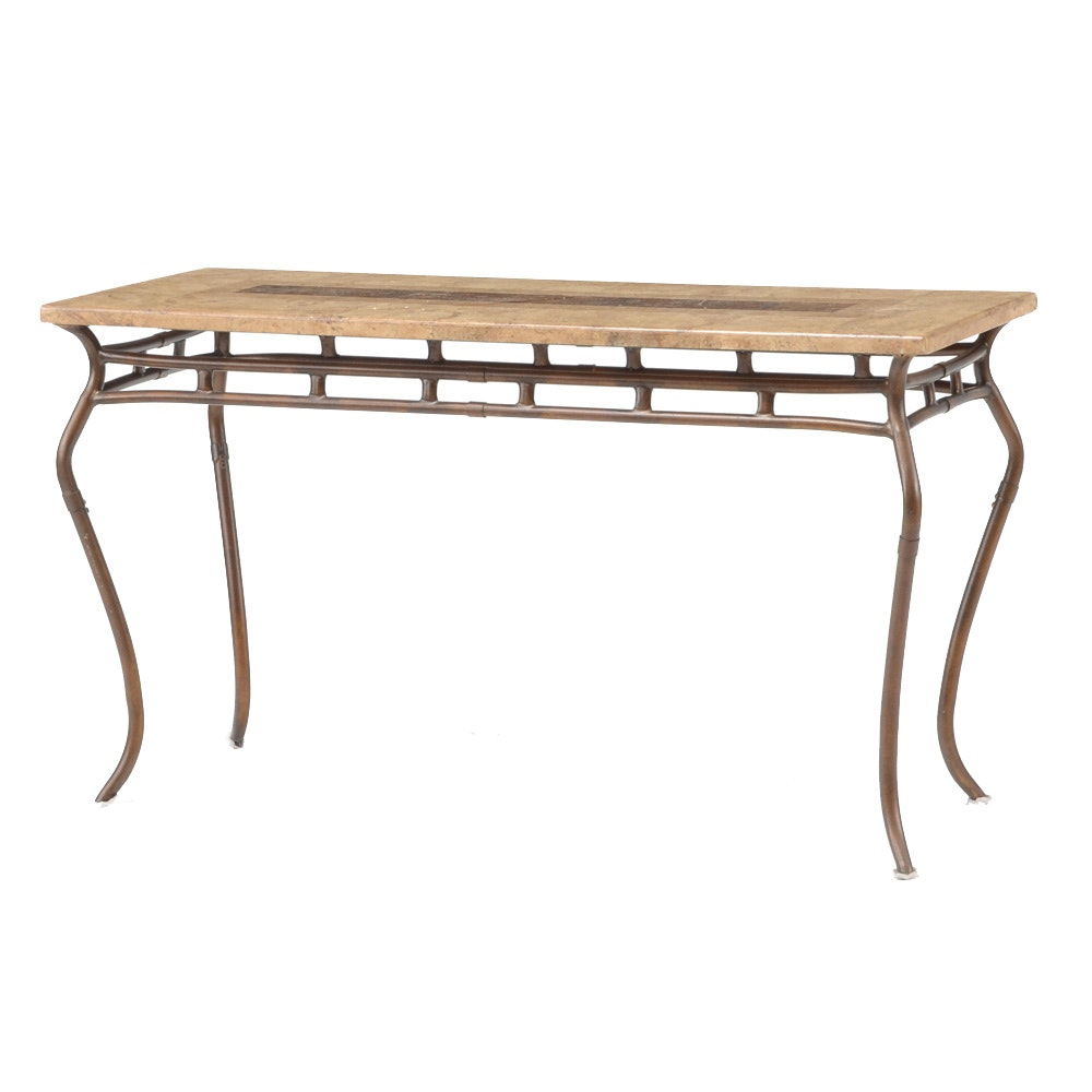 Ceramic Tile Top Sofa Table