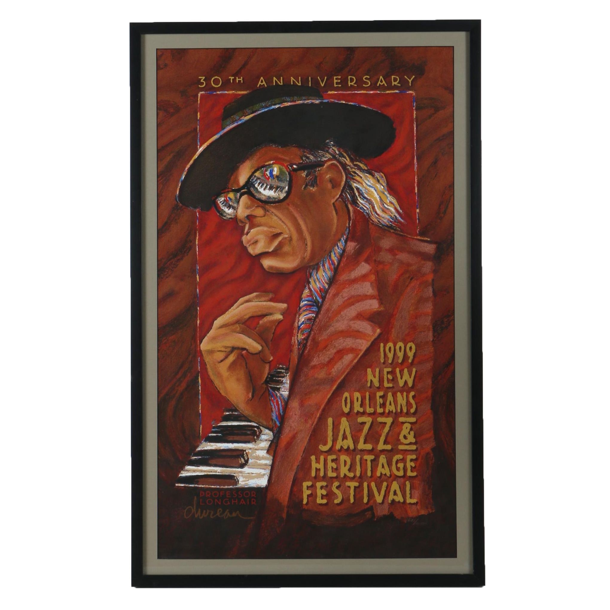"George Dureau Serigraph Poster ""1999 New Orleans Jazz & Heritage Festival"""