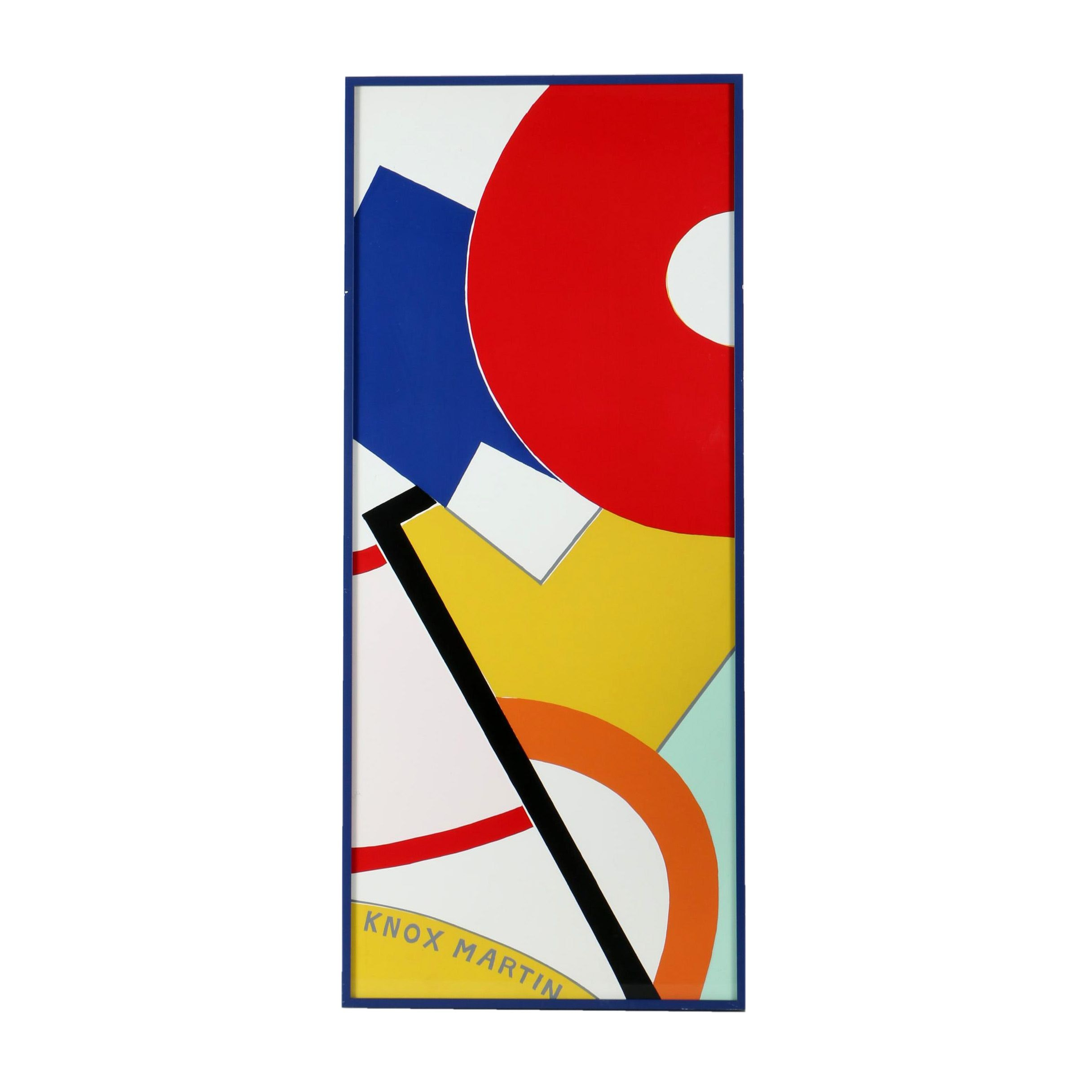 """Knox Martin Serigraph on Paper """"Study in Color"""""""