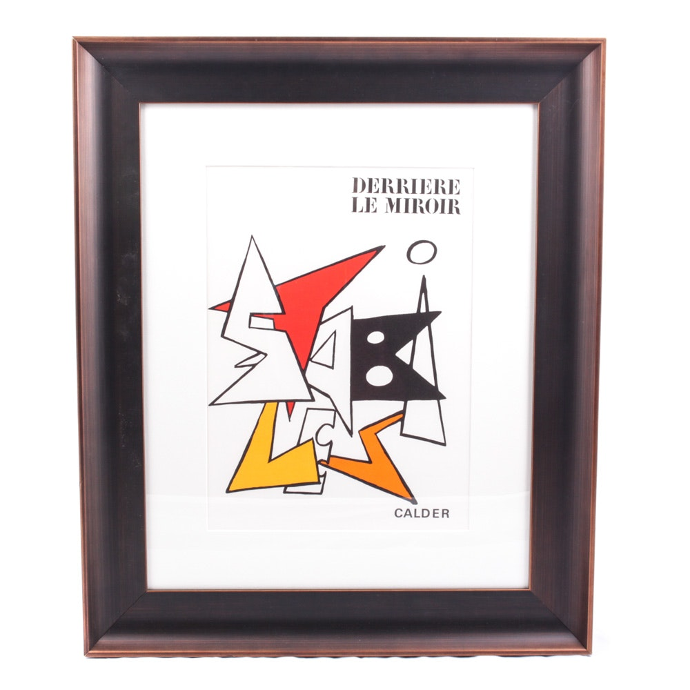 "Alexander Calder Color Lithograph for Cover of 1963 ""Derrière le Miroir"" No. 141"