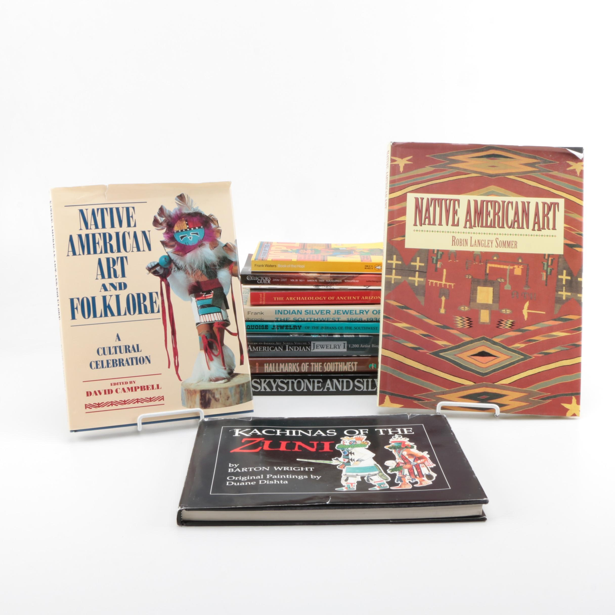 Collection of Books on Native American Culture and Art