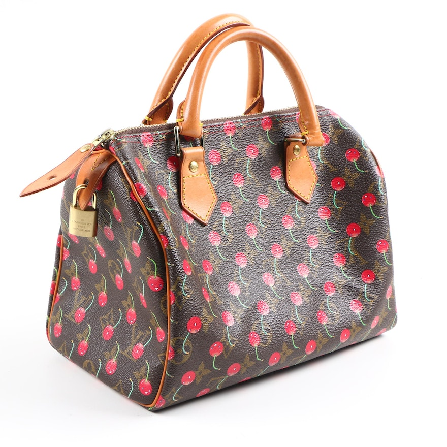 df845e4ced6018 Louis Vuitton Limited Edition Monogram Cerises Cherry Speedy 25 | EBTH