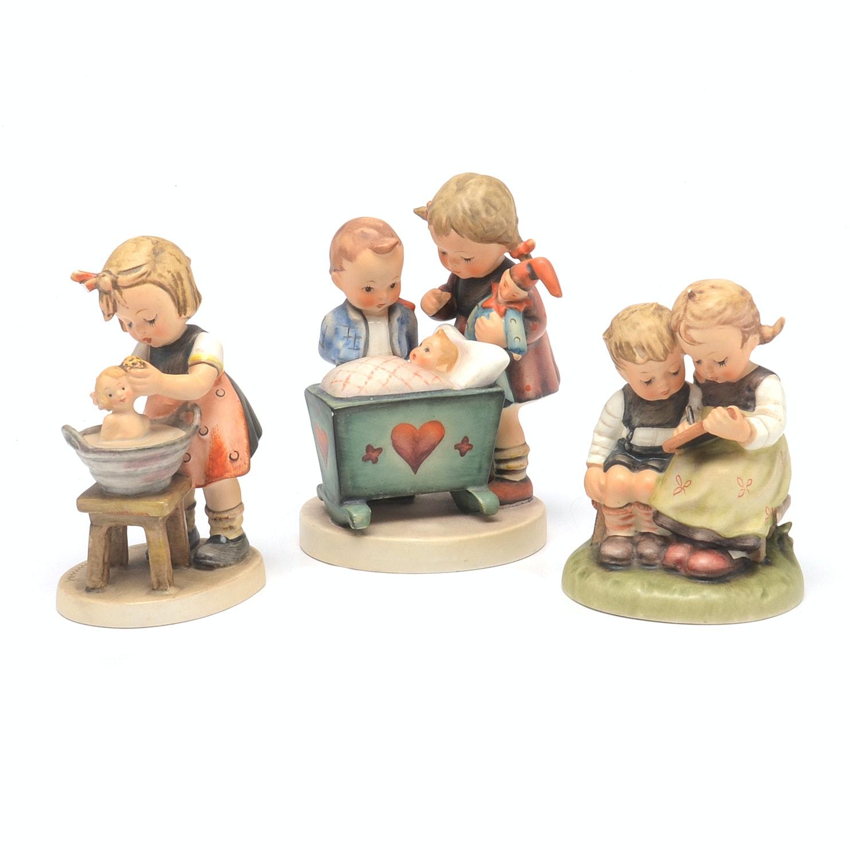 Vintage Hummel Figures Blessed Event Smart Little Sister and Doll Bath