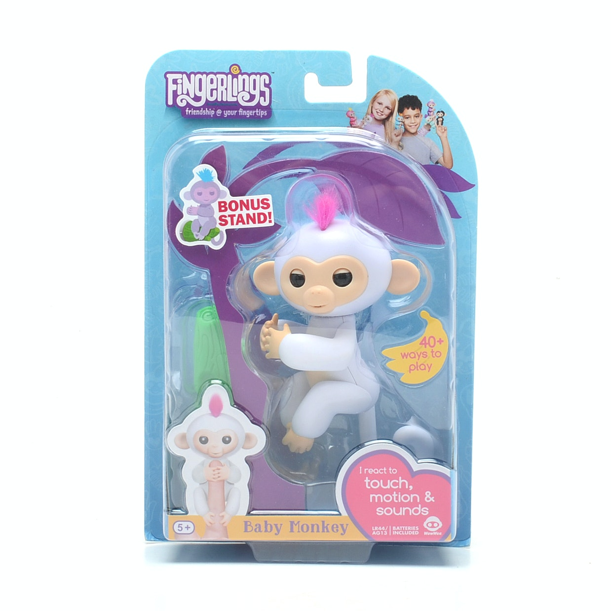 WowWee Fingerlings Sophie White Baby Monkey Interactive Toy