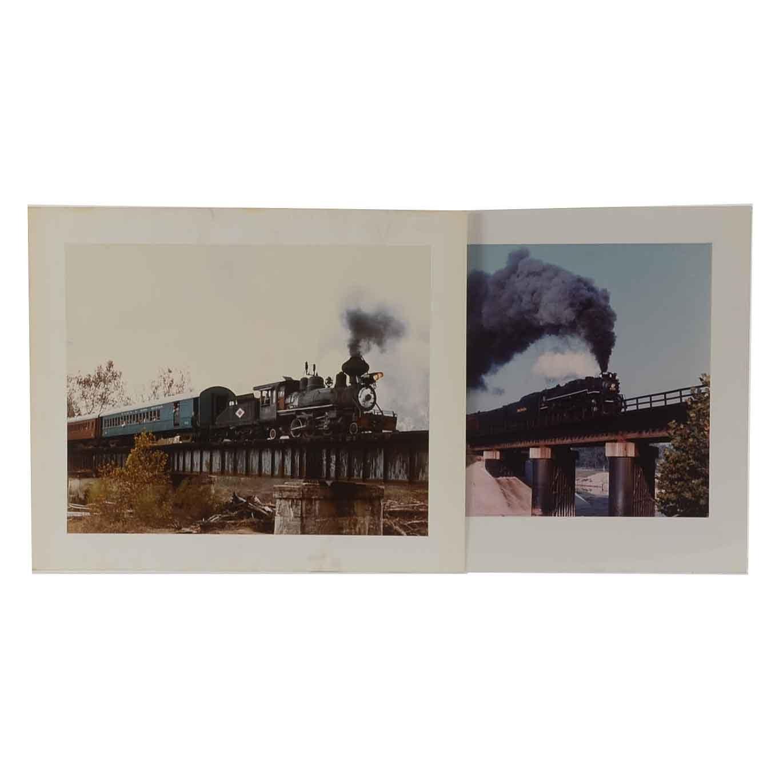 Vincent Re Pair of Color Photographs of Trains