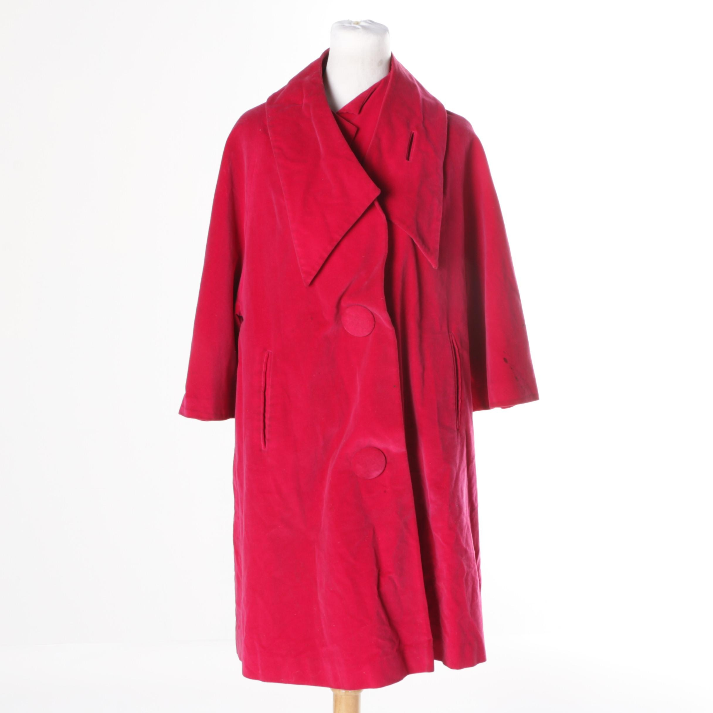 Circa 1960s Vintage Marguerite Rubel Swing Coat