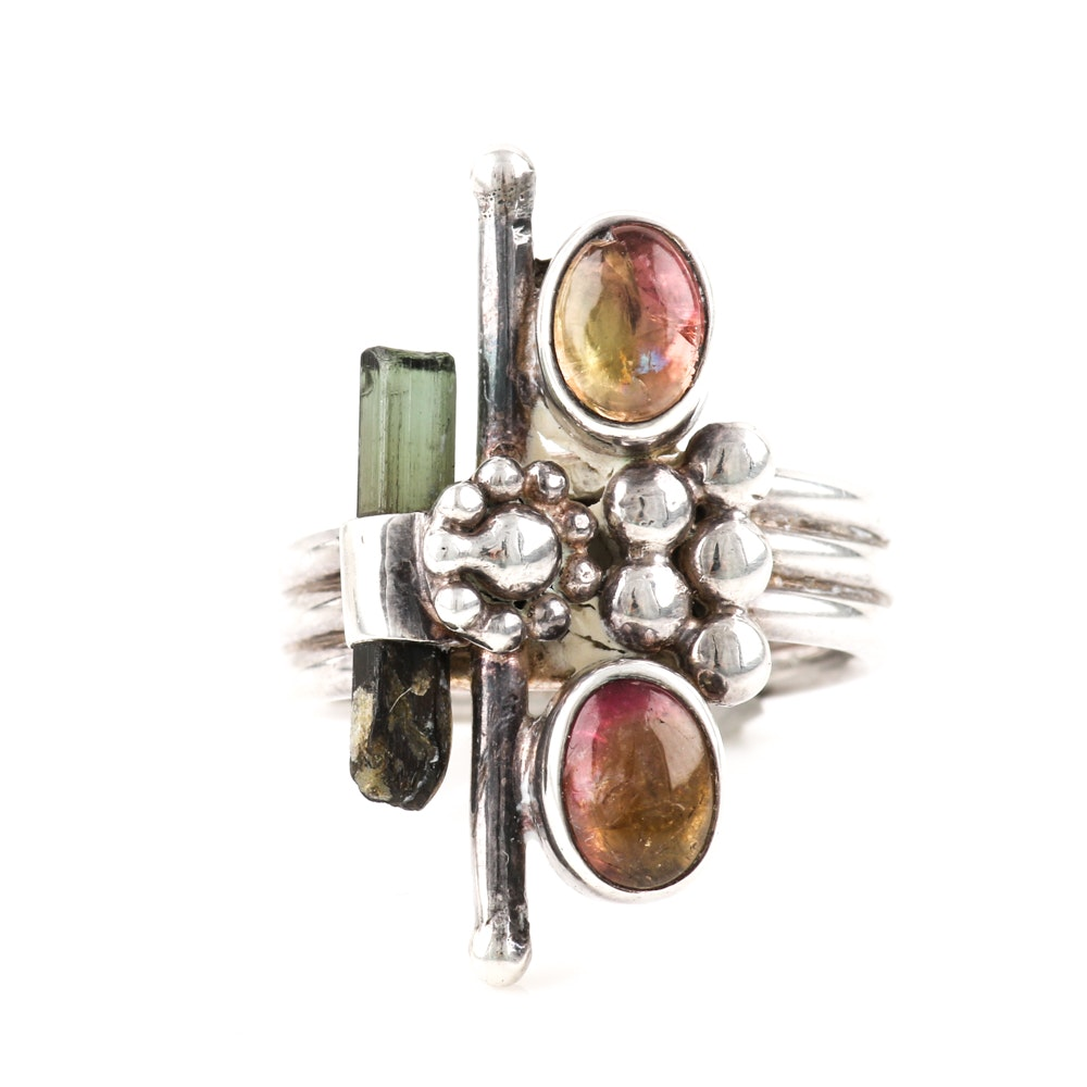 Kathy's Collection Sterling Silver Tourmaline Ring