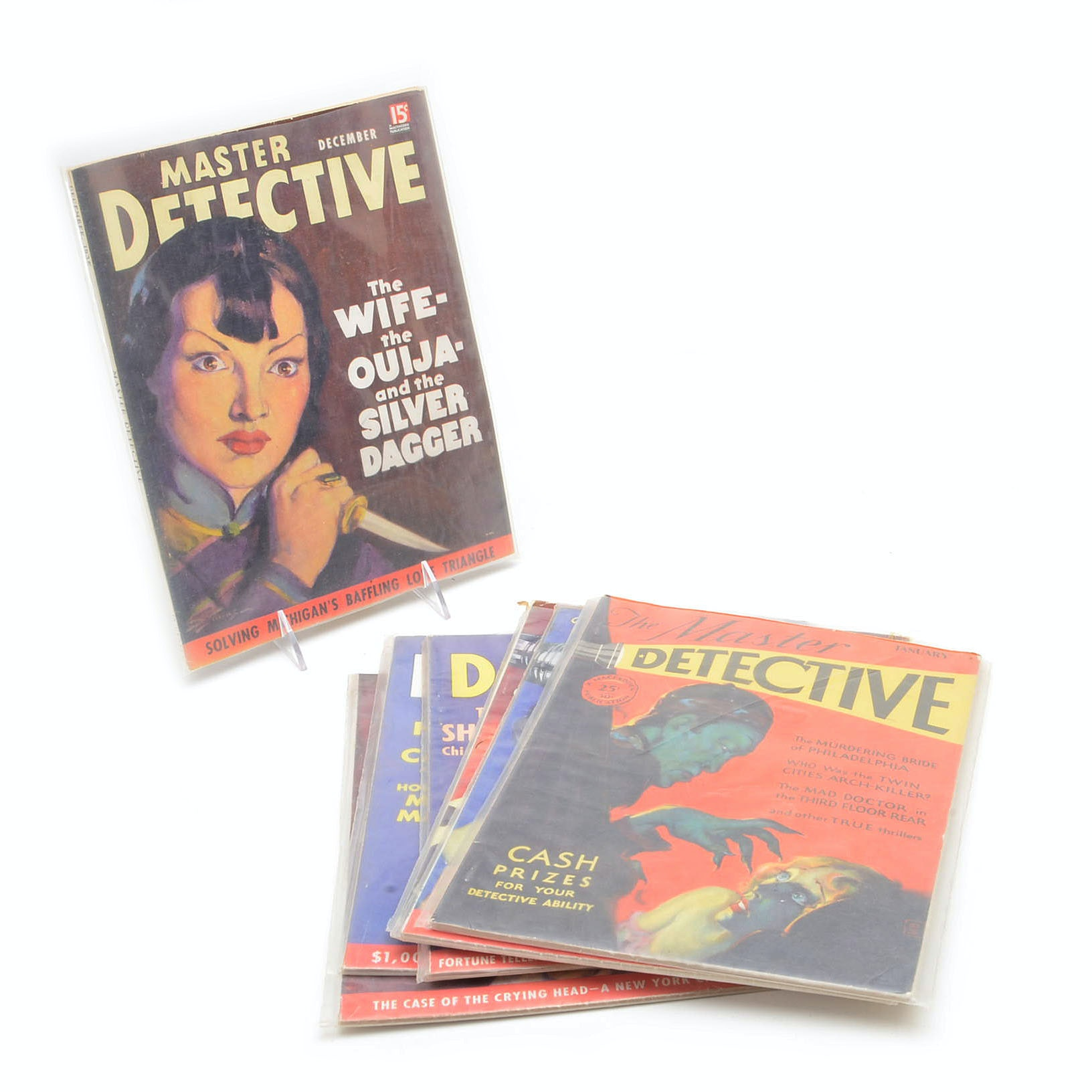 "Seven 1930s ""Master Detective"" Magazines"
