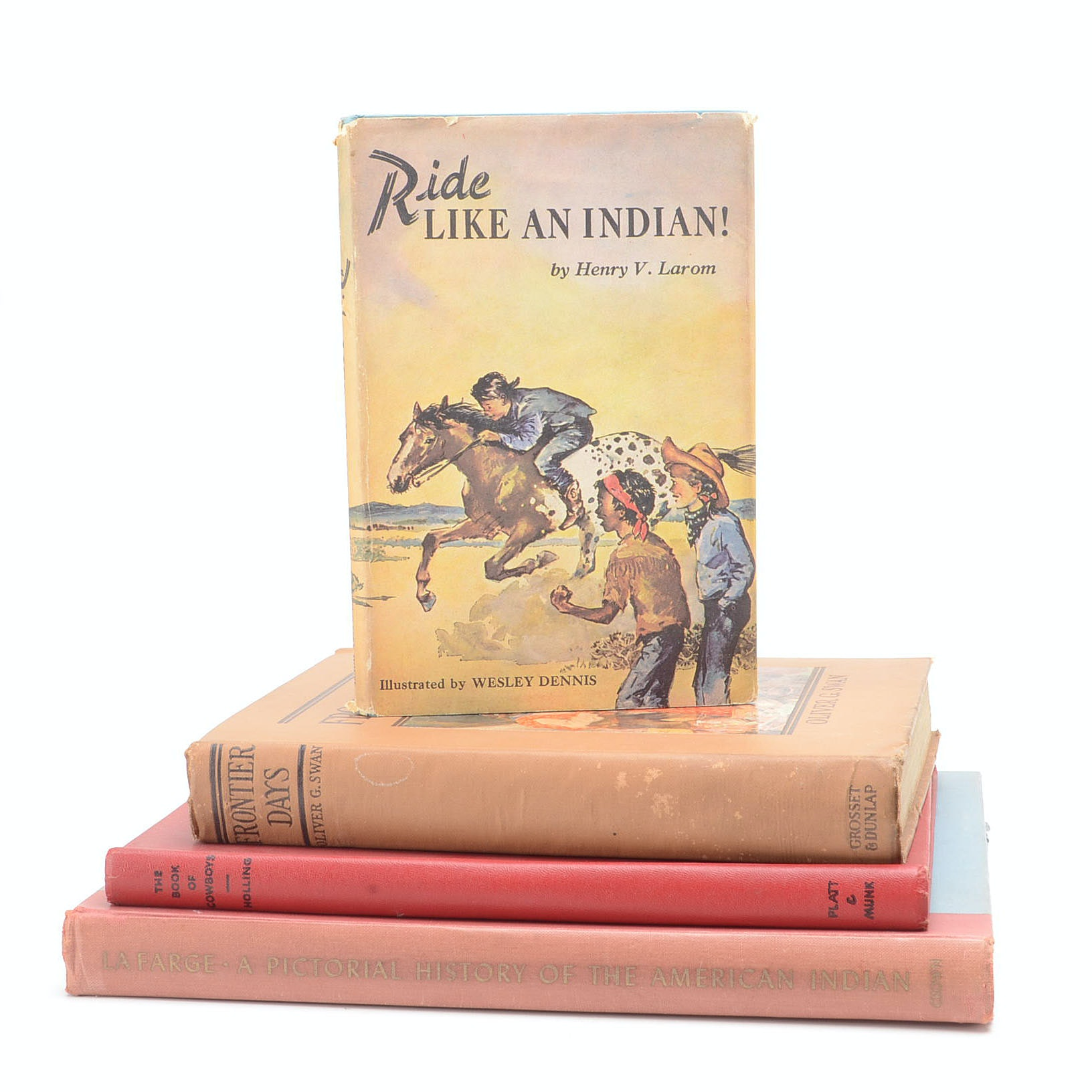 Collection of Vintage Books about the American Frontier