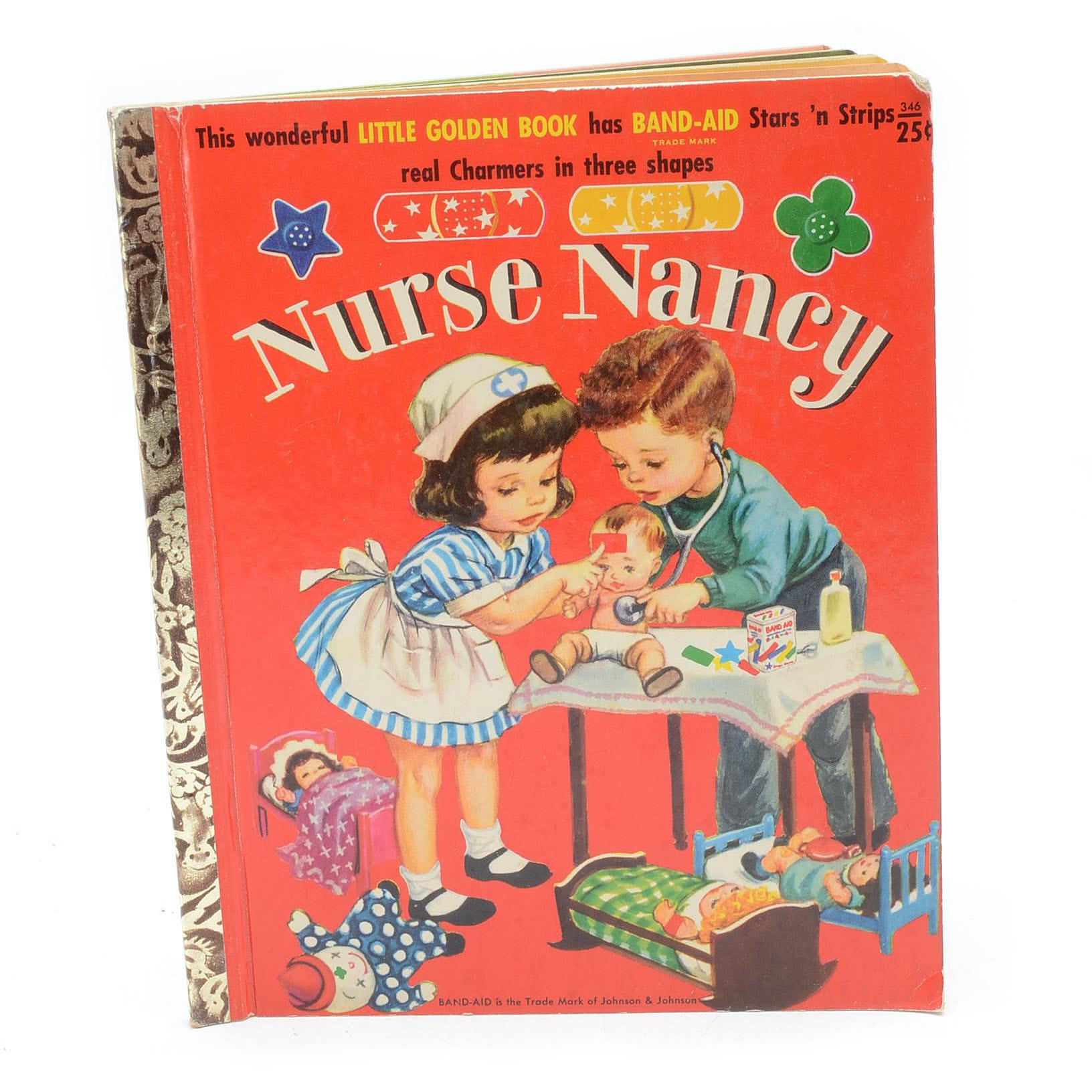 "1958 Rare ""Nurse Nancy"" Little Golden Children's Book"