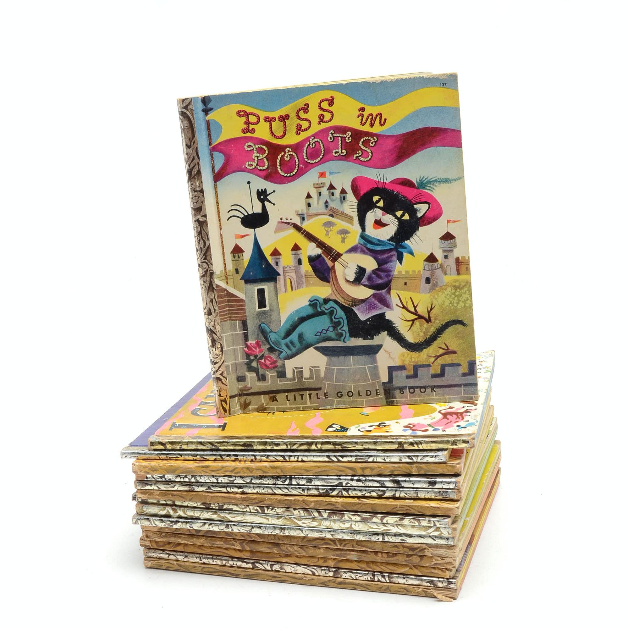 Collection of 1950's Little Golden Children's Books