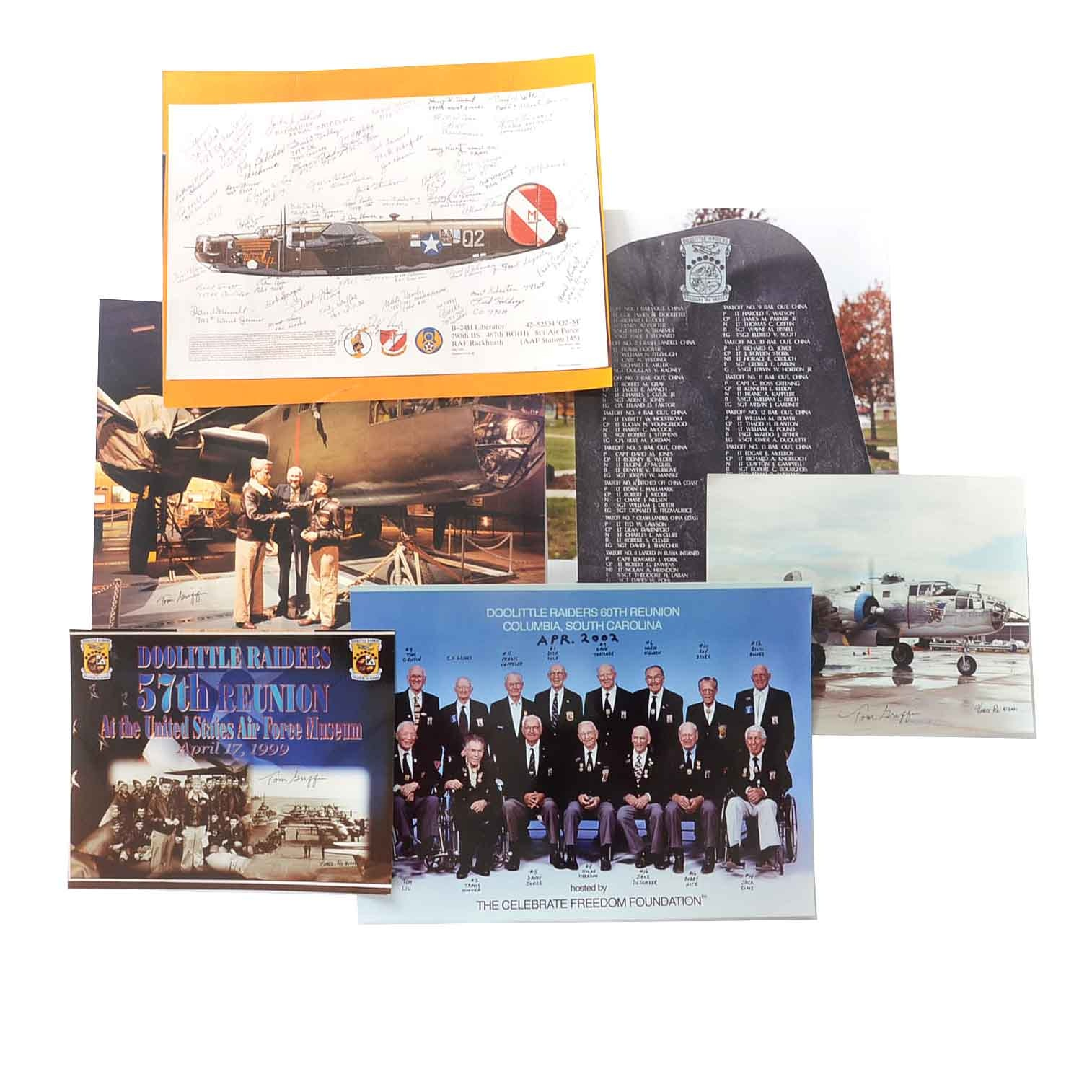 Vincent Re Collection of Photographs of Doolittle Raiders Memorabilia