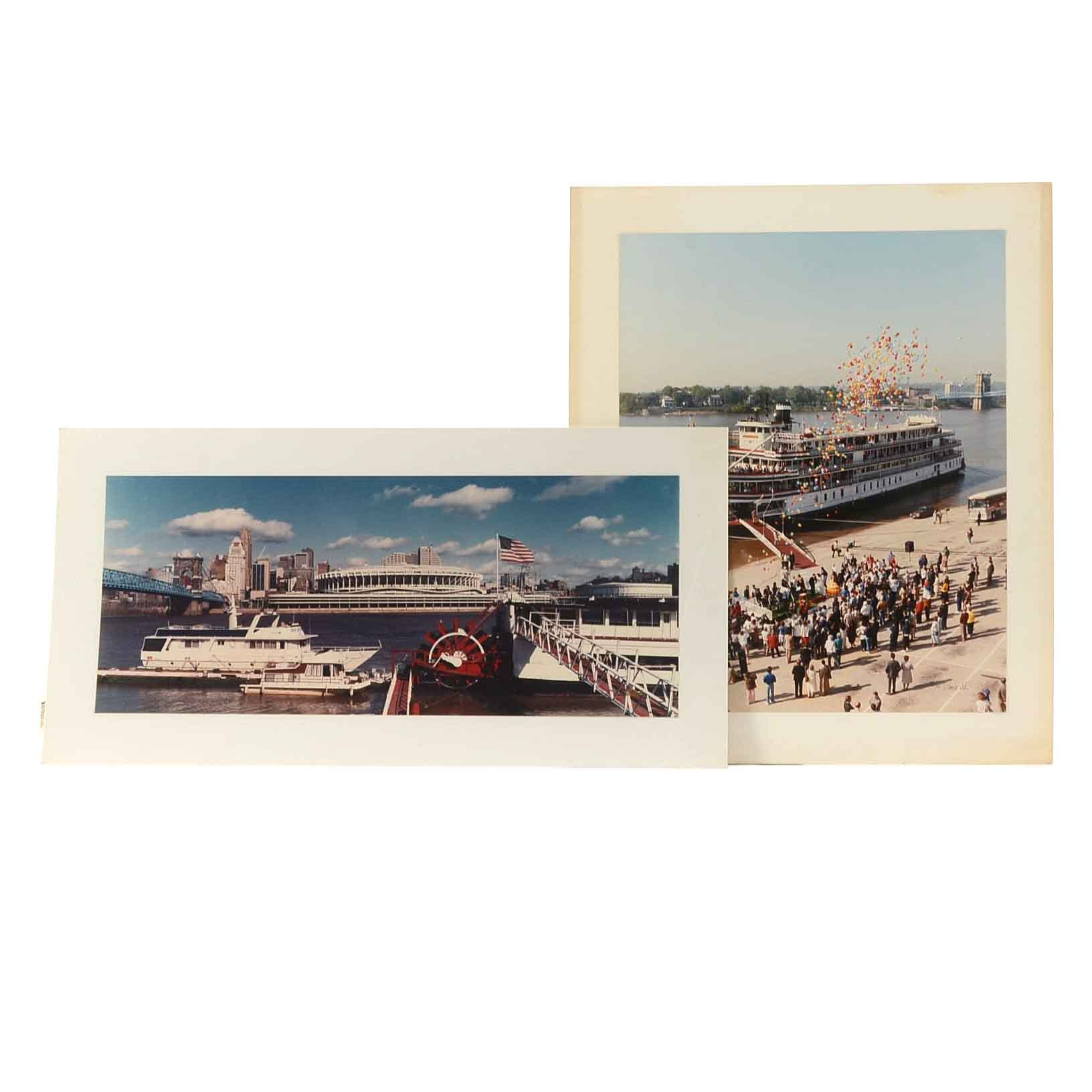 Vincent Re Pair of Photographs of Riverboats