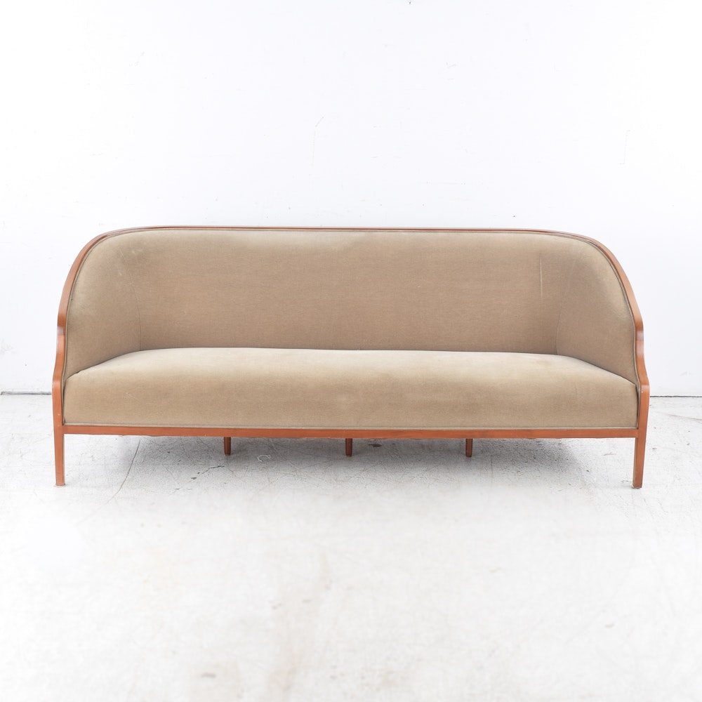 Vintage Barrel Back Sofa