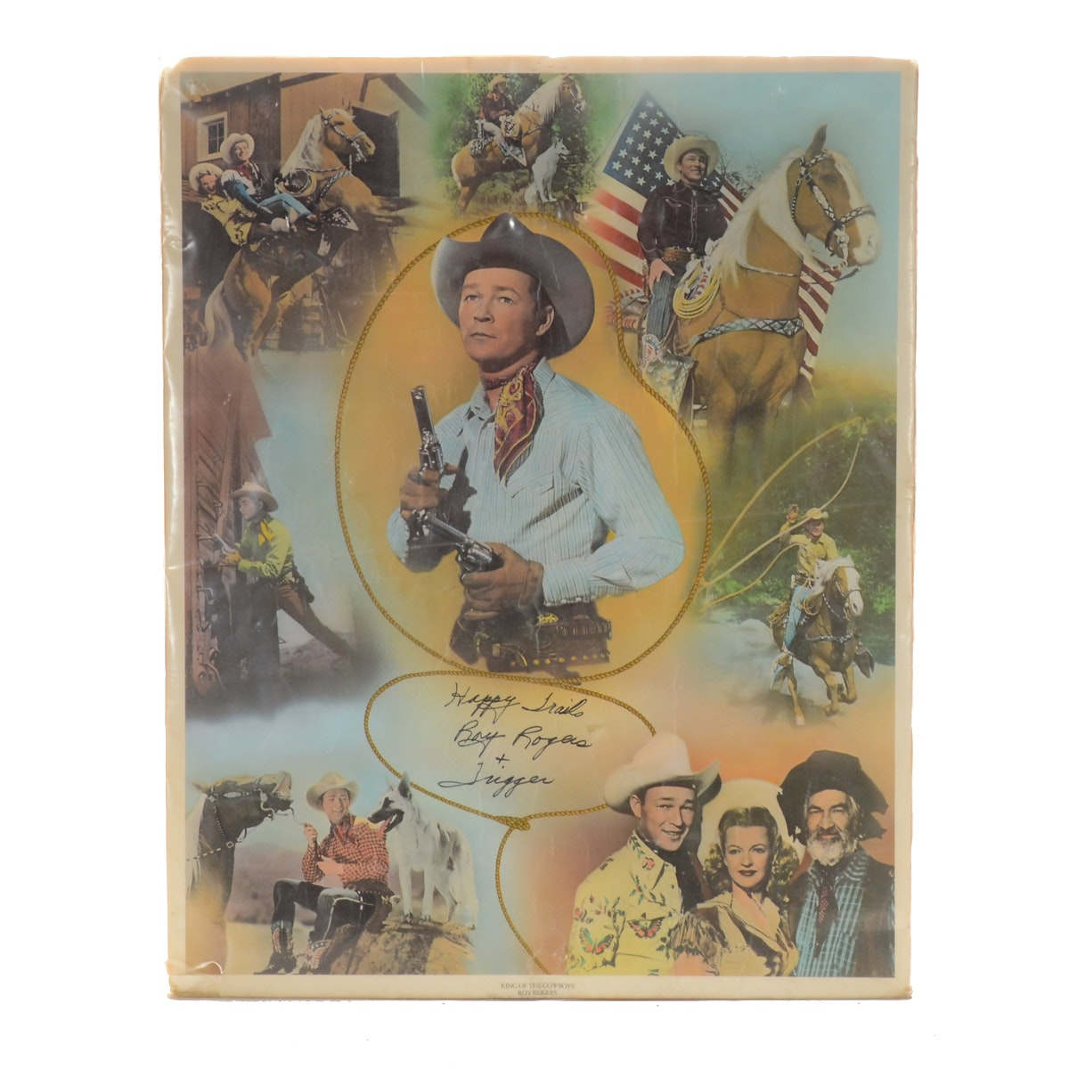 "Roy Rogers Signed Offset Lithograph Poster ""King of the Cowboys"""