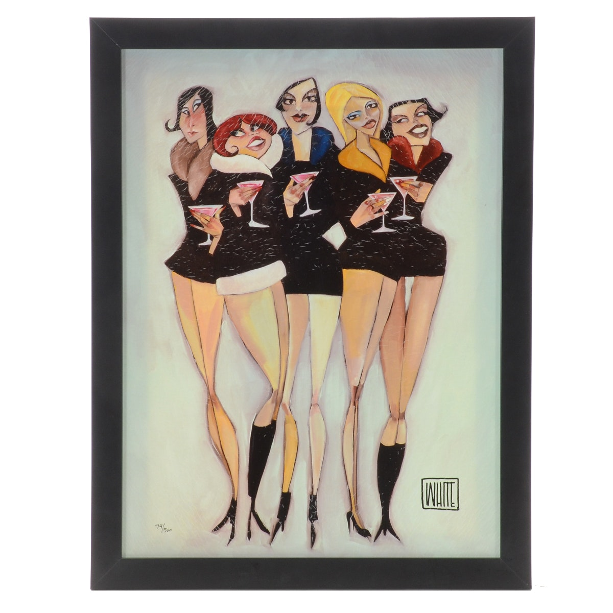 "Limited Edition Giclee on Canvas after Todd White ""Cosmopolitan"""