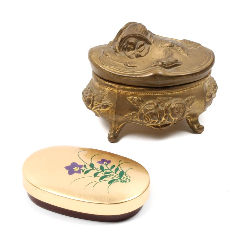 Two Decorative Lidded Boxes