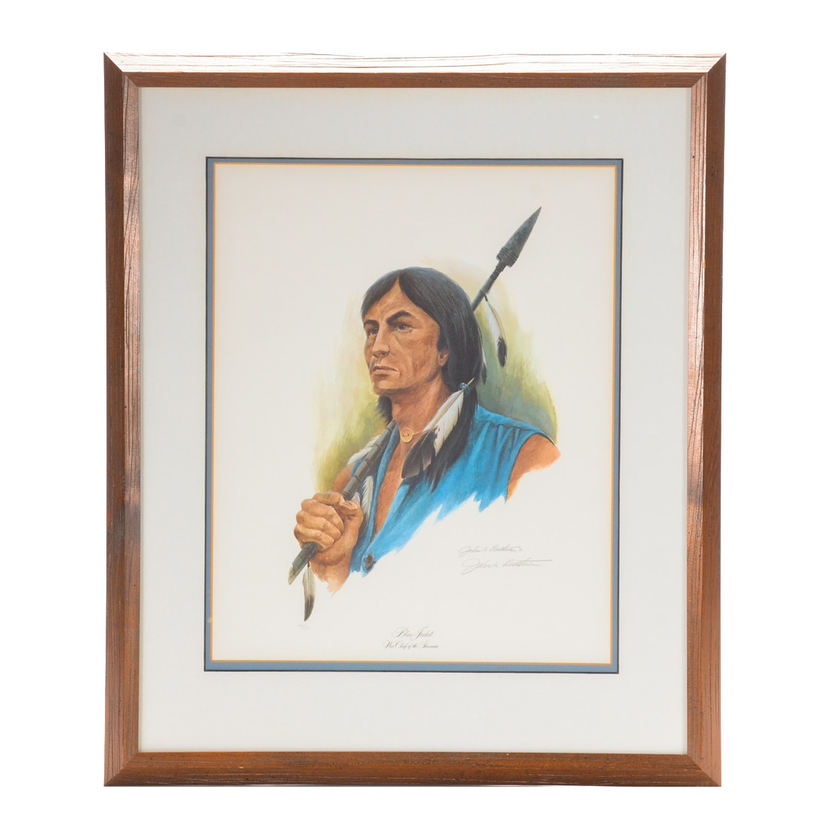 "John Ruthven Limited Edition Offset Lithograph on Paper ""Blue Jacket"""