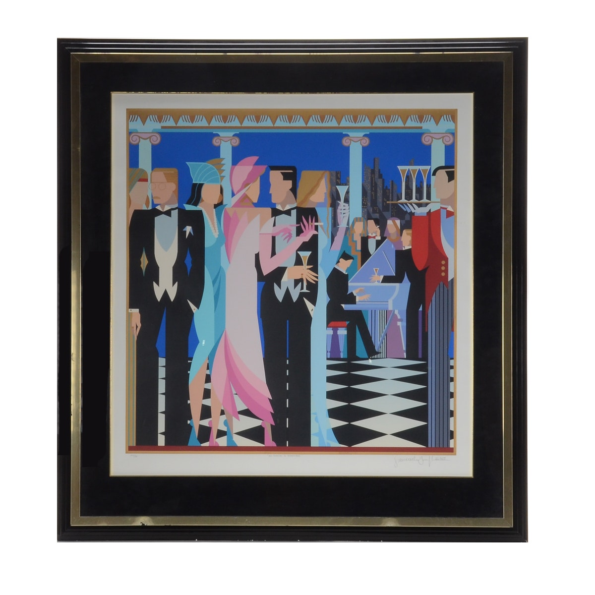 "Giancarlo Impiglia Limited Edition Serigraph ""A Night to Remember"""