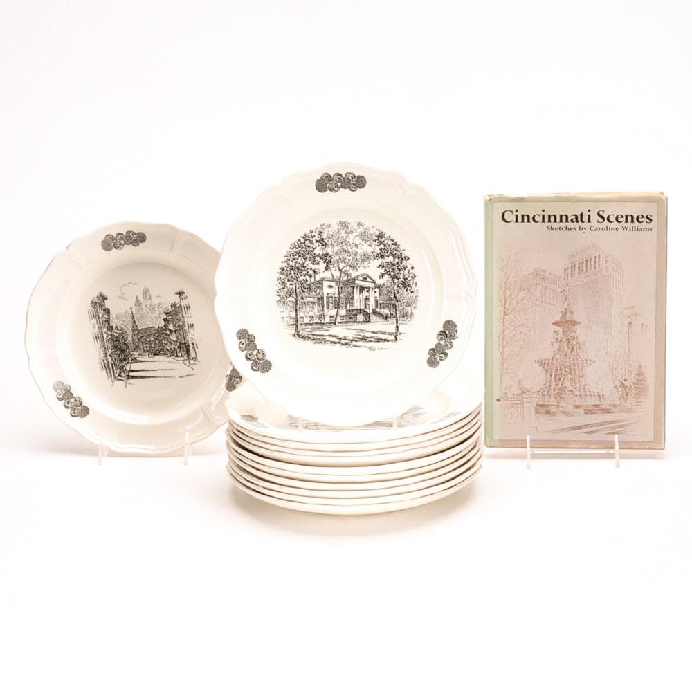 Collection of Vintage Wedgwood Cincinnati Landmark Plates