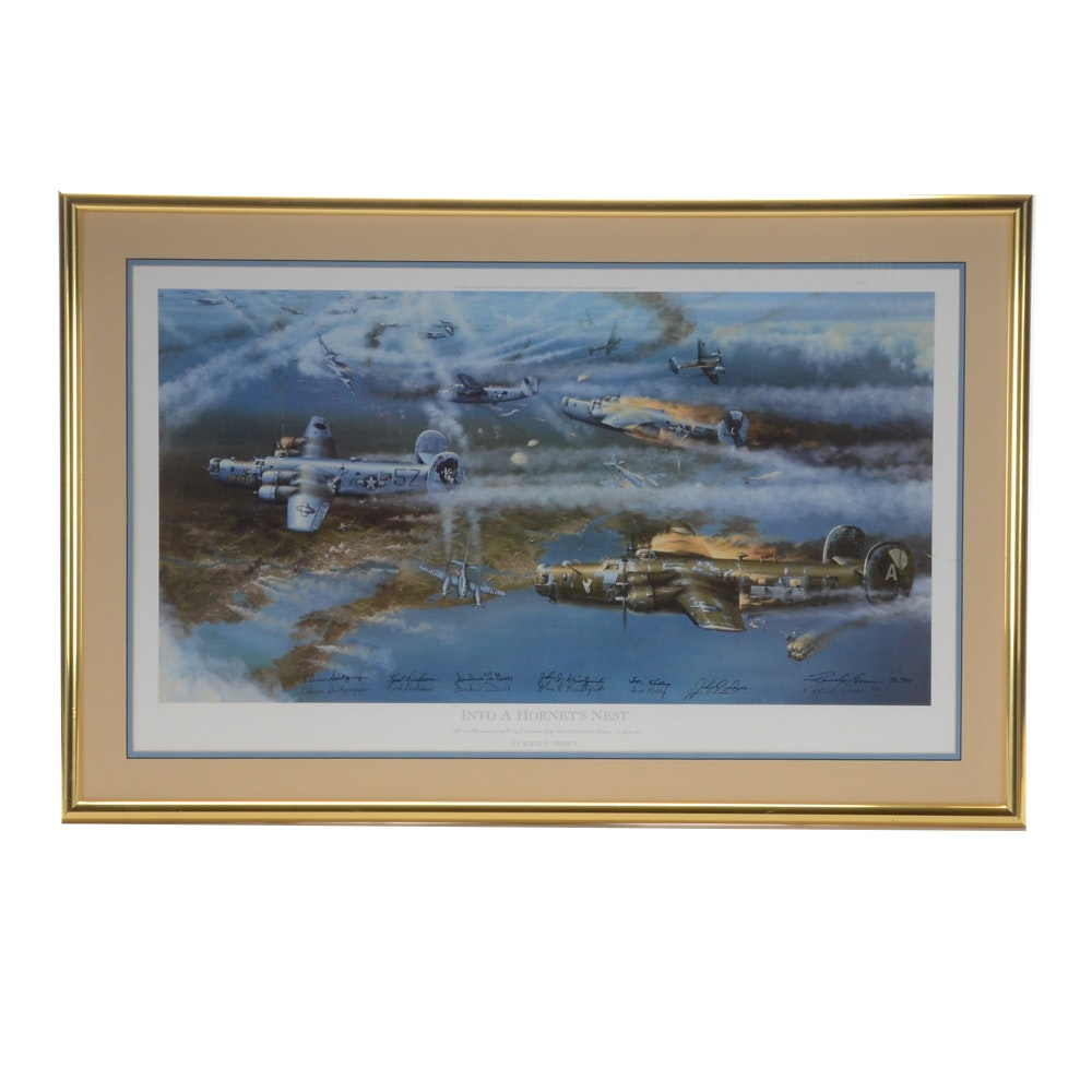 """Randy Green Signed Offset Lithograph """"Into a Hornet's Nest"""""""