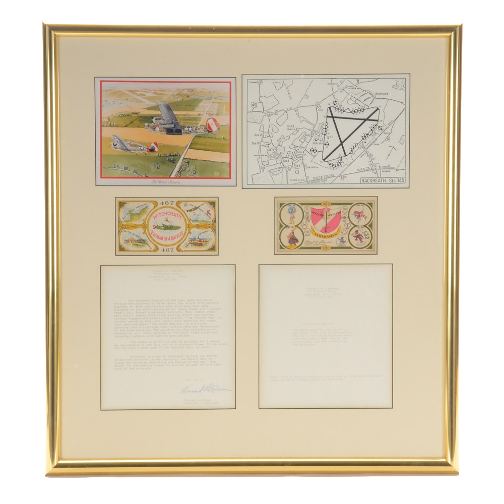"""Collection of Ephemera Commemorating WWII War Plane """"The Witchcraft"""""""