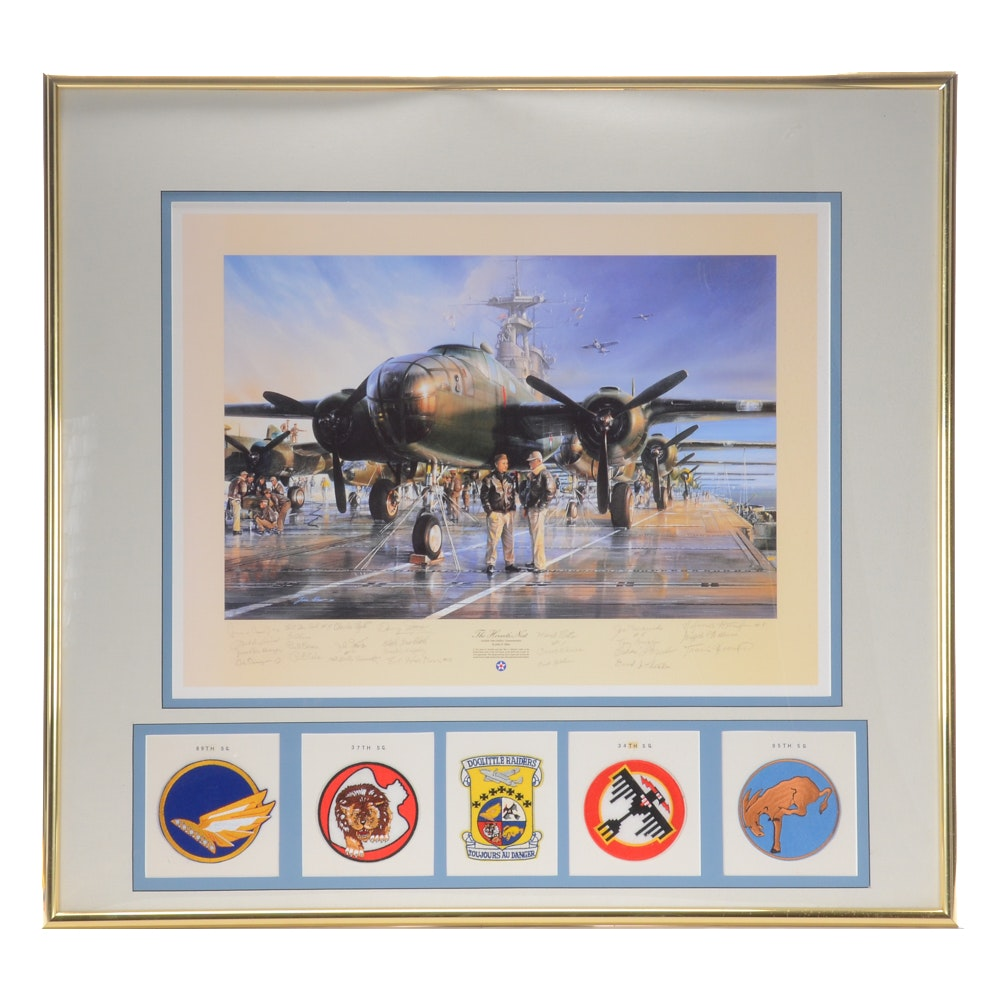 "John D. Shaw Limited Edition Offset Lithograph after ""Hornet's Nest"" with Badges"