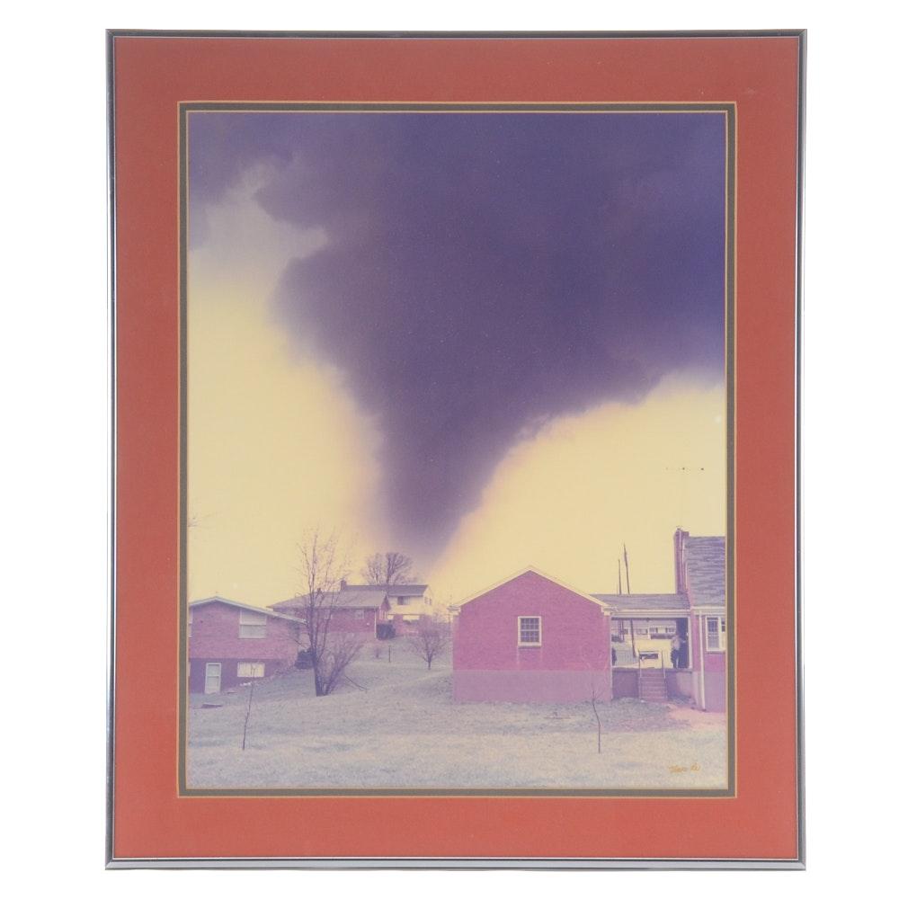 Vincent Re Photograph of 1974 Tornado over Sayler Park, Ohio