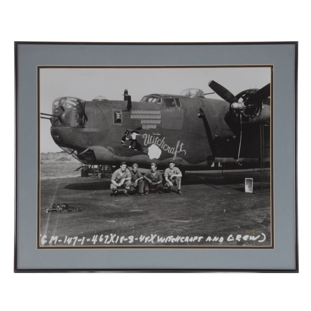 """Vincent Re Reproduction Print of a WWII Photograph """"Witchcraft and Crew"""""""