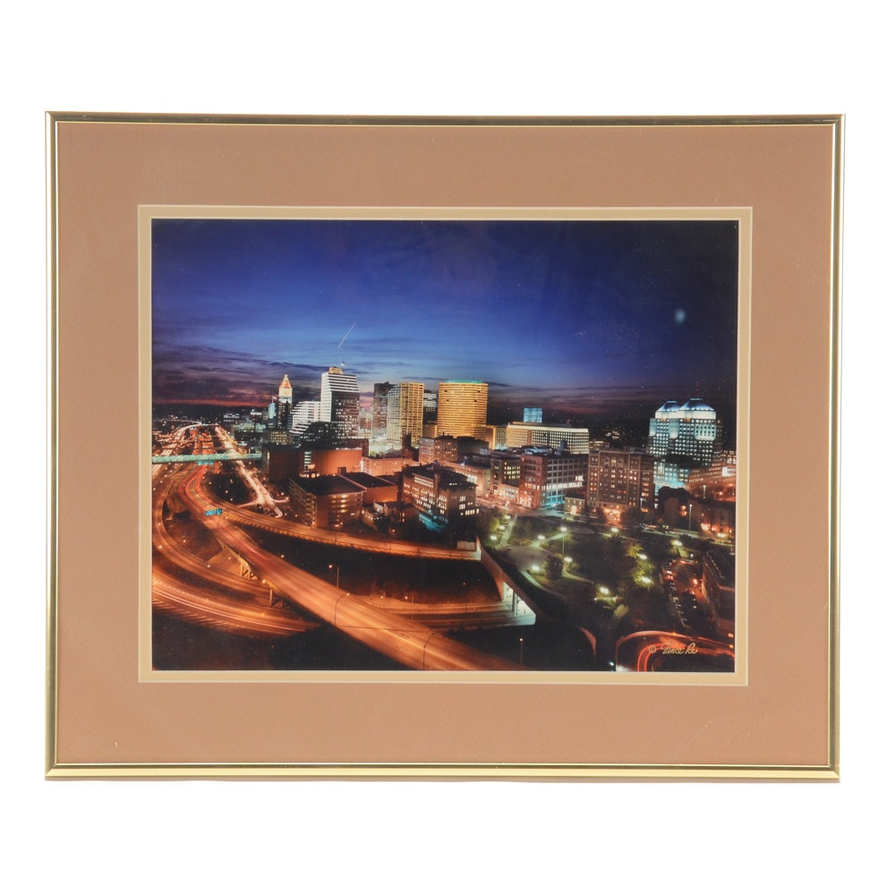 Vincent Re Photograph of Downtown Cincinnati at Night