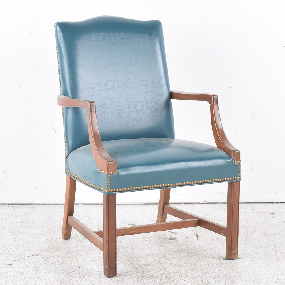 1970s Jasper Seating Co. Faux Leather Armchair