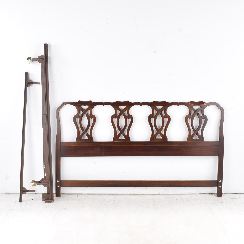 Drexel Heritage Chippendale Style King Size Bed Frame
