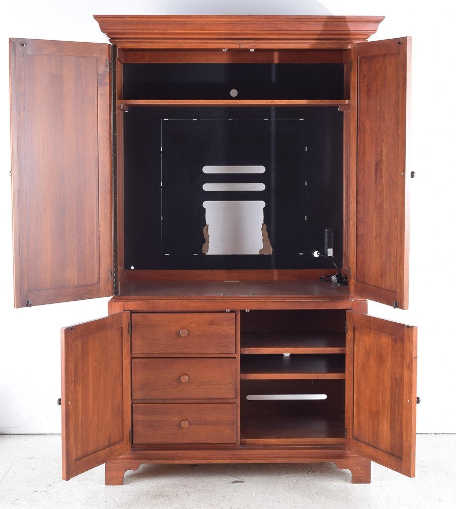 Damaged Kitchen Cabinets For Sale: Cherry Television Cabinet By Lexington Furniture : EBTH