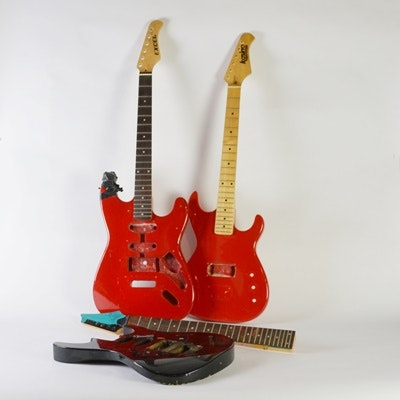 Three Electric Guitar Bodies