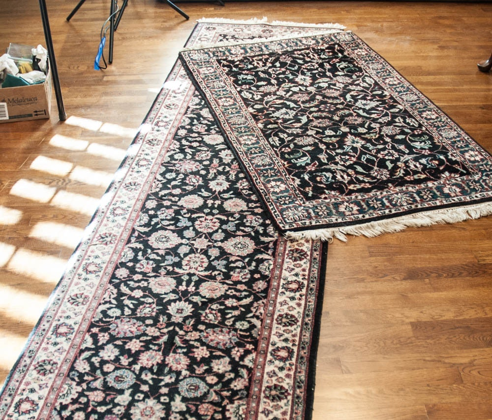 Pair of Hand-Knotted Sino-Persian Area Rugs